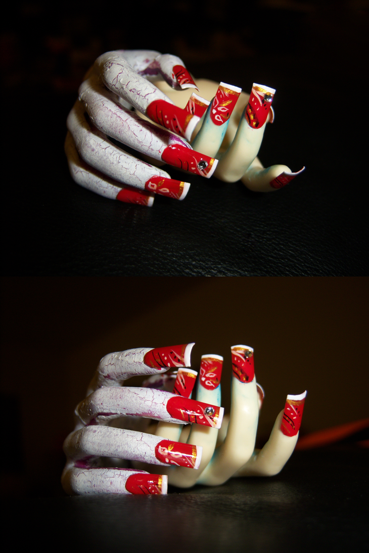 Fake Nails for BJD: Red by napoleondolls
