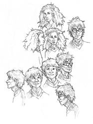 HP Character Faces-sketch