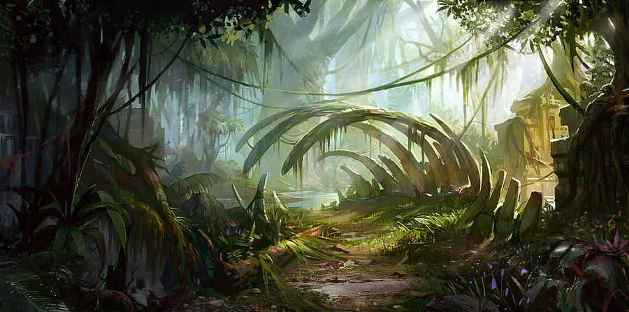 dinosaur landscape background - photo #10