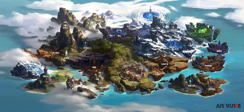one of Net Ease game Map by dawnpu