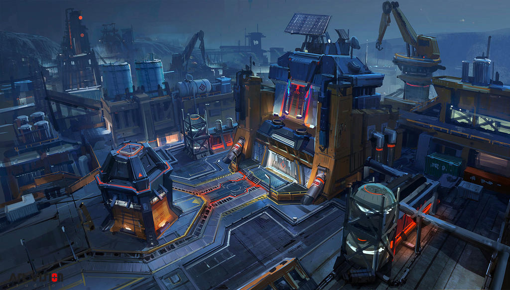 one sci fi level design  Demo by dawnpu