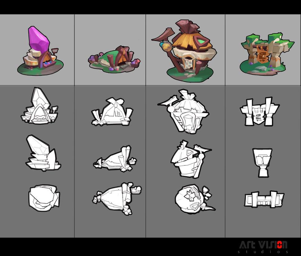 Cartoon objects design by dawnpu