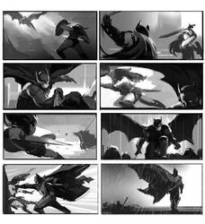 just for fun1 Batman VS Wonder Woman by dawnpu
