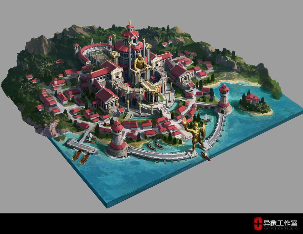 titan city design by dawnpu
