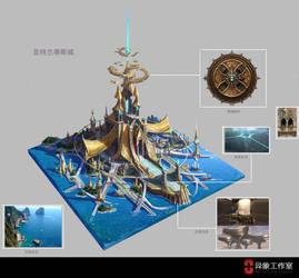 Atlantis City design by dawnpu
