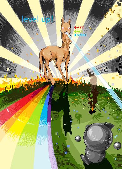 DA Llama Level Up by Nigasuchan