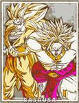 SSJ3 Goku x LSSJ Broly