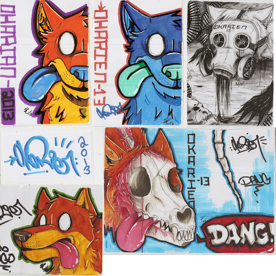 Graffiti Characters Stickers Dumb Dingo By