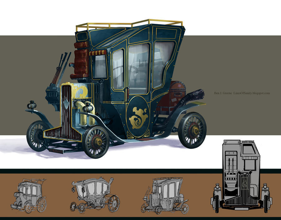 Time-splice Carriage by MrBlackCap