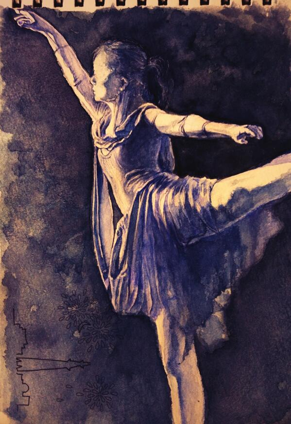 ballet dancer watercolor painting by italy-gucciko on ...