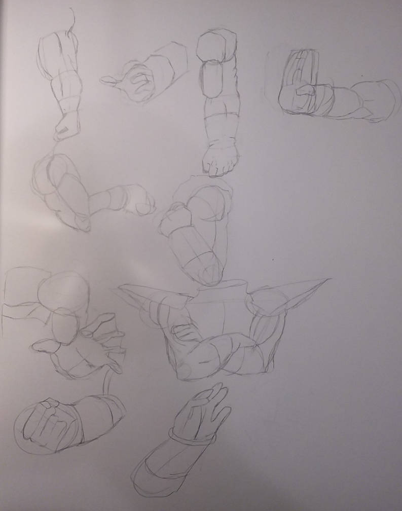 Dragon ball arms and hands by manpencil