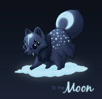 Pomerantula: To the Moon [Sold] by jentuyet