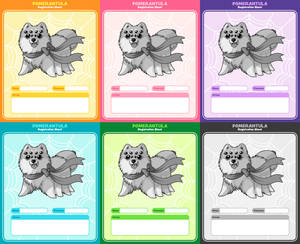 Pomerantula: Registration sheets