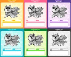 Pomerantula: Registration sheets
