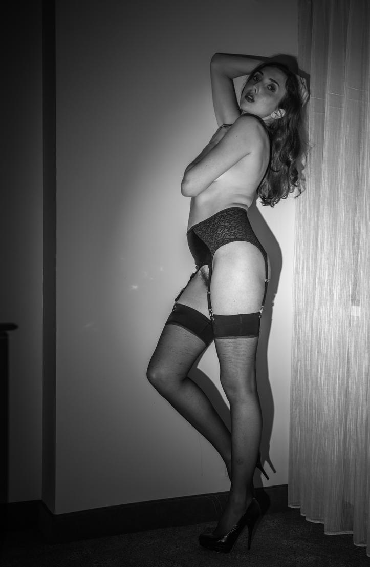 black garter by Manyroomsphotography