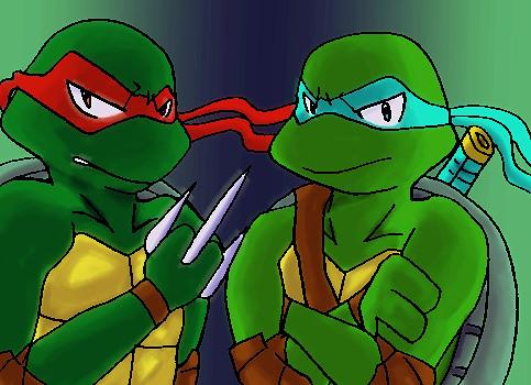 Leo and Raph-sugomi- by koju327