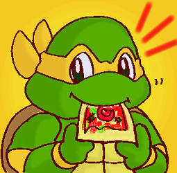Michelangelo-munch pizza by koju327