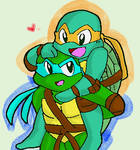 Leo and Mikey-onbu-