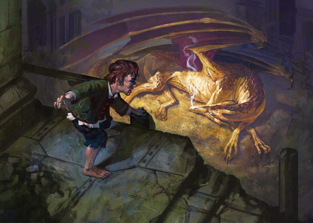 Bilbo and Smaug by DiegoGisbertLlorens