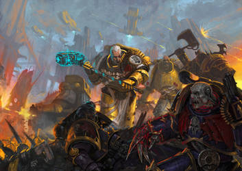 Imperial Fists by DiegoGisbertLlorens