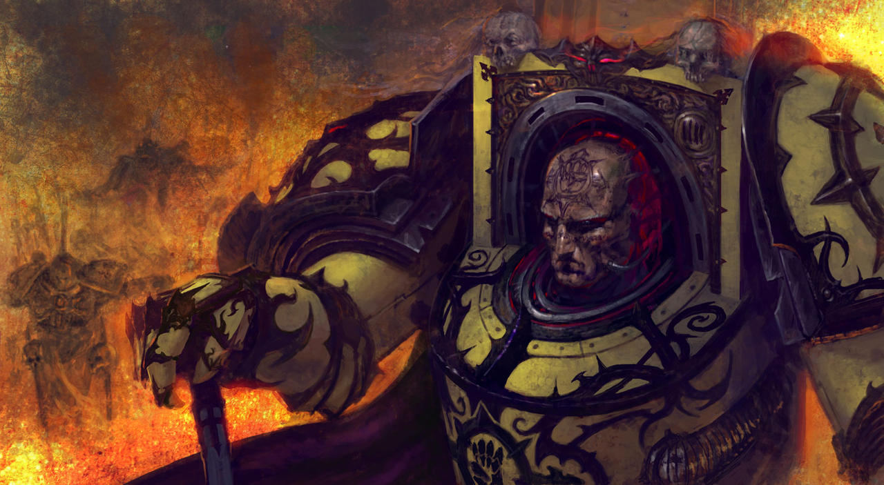 Corrupted Rogal Dorn.Dornian Heresy