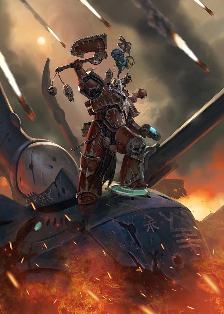 [W40K] Collection d'images : Space Marines du Chaos - Page 11 For_the_blood_god__by_diegogisbertllorens-d9yzzsl