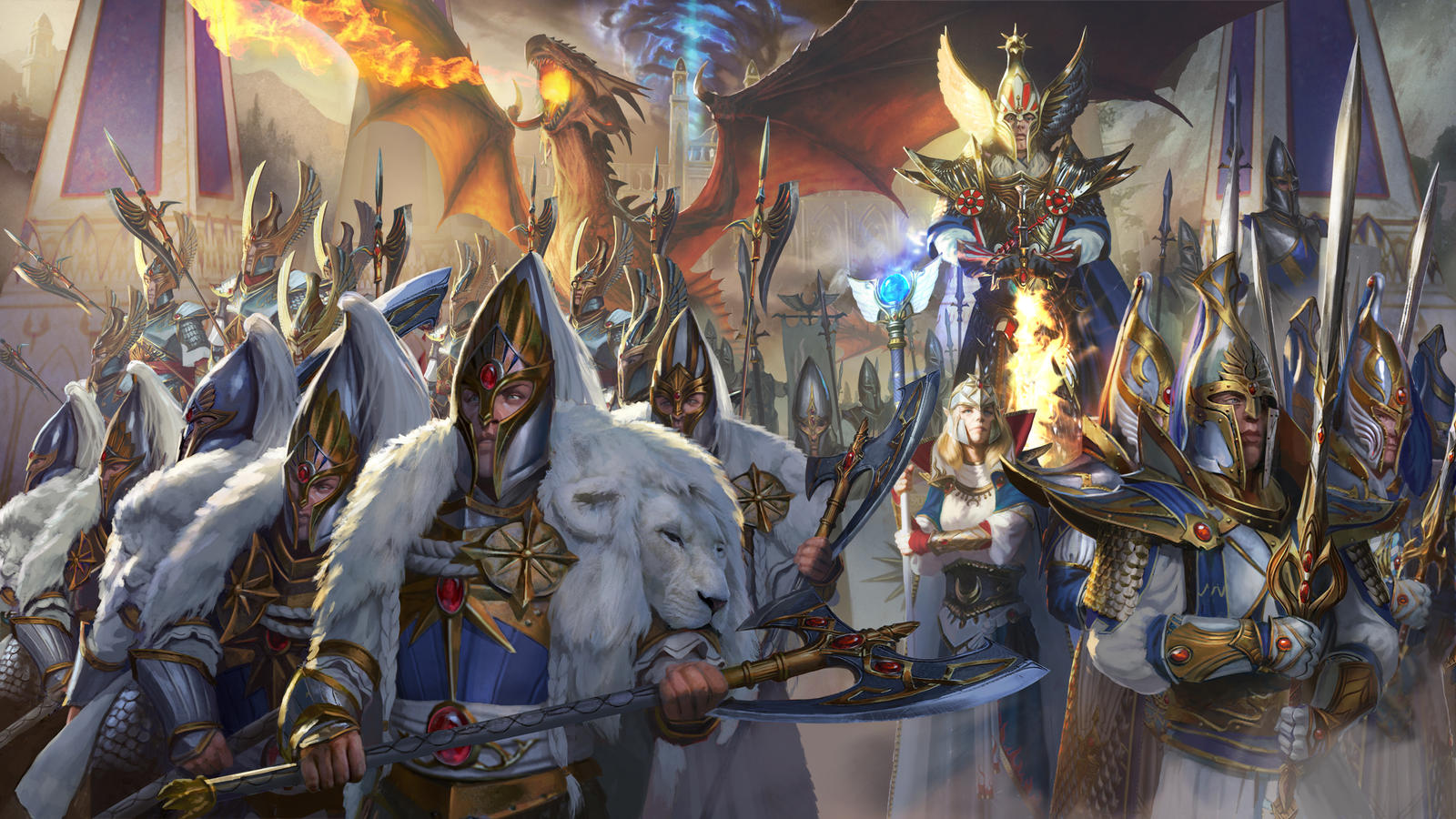 TW: WH 2- High Elves Key Art