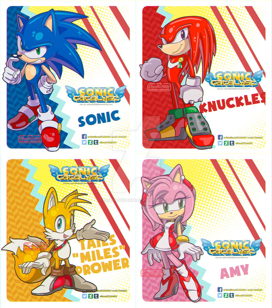 Amy Rose Sin Ropa sonic, knuckles, miles and amyeliana55226838 on deviantart