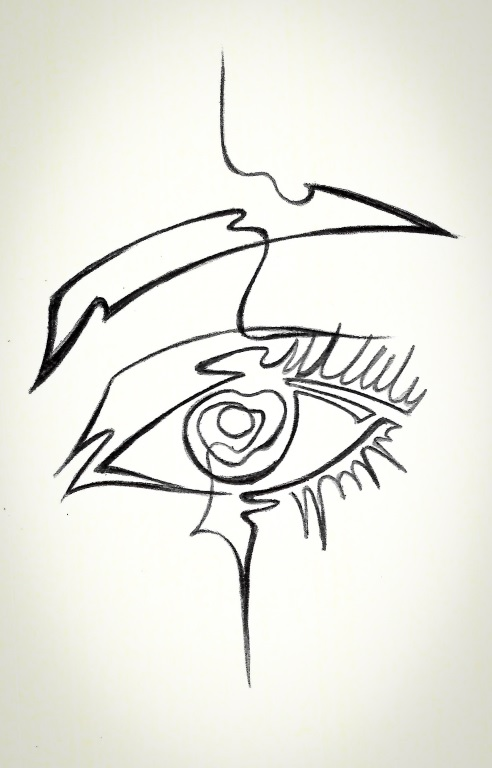 Single Line Chat Art : Single line eye design by thelineartist on deviantart