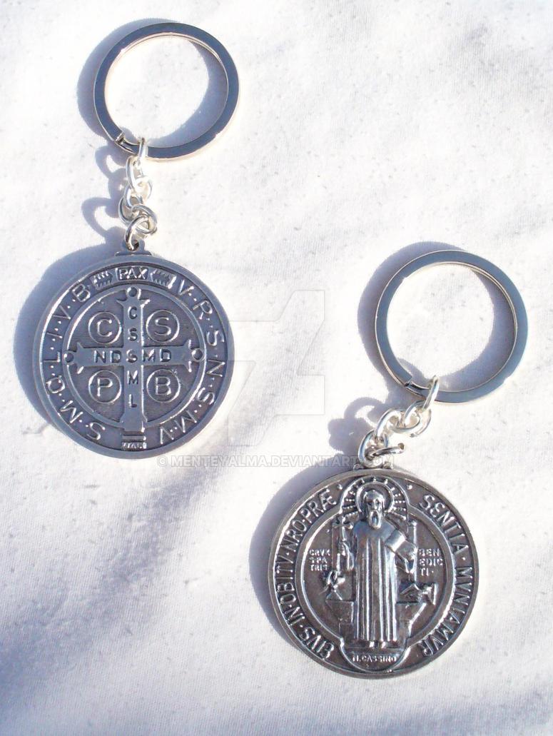 020b8125d70 Llavero medalla San Benito by MENTEyALMA on DeviantArt
