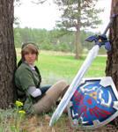 Master Sword and Hylian Shield Closeup
