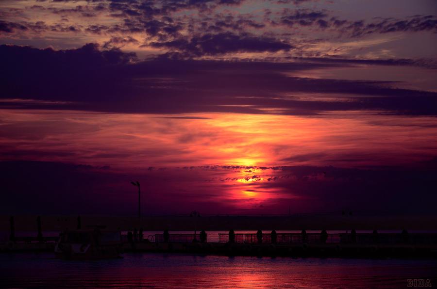 Romanian sunset by B1da