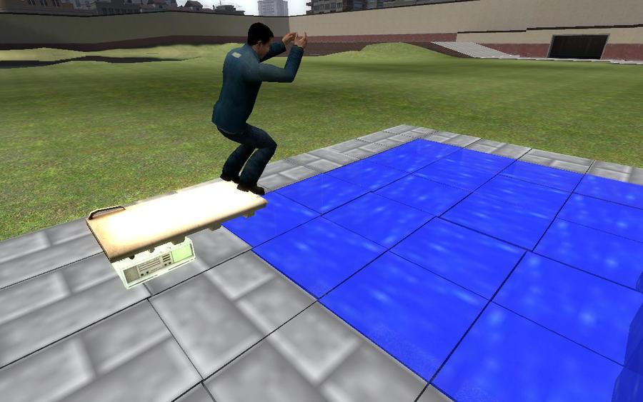 Minecraft swimming pool by infernojuggernaut on deviantart for Minecraft exterior design ideas