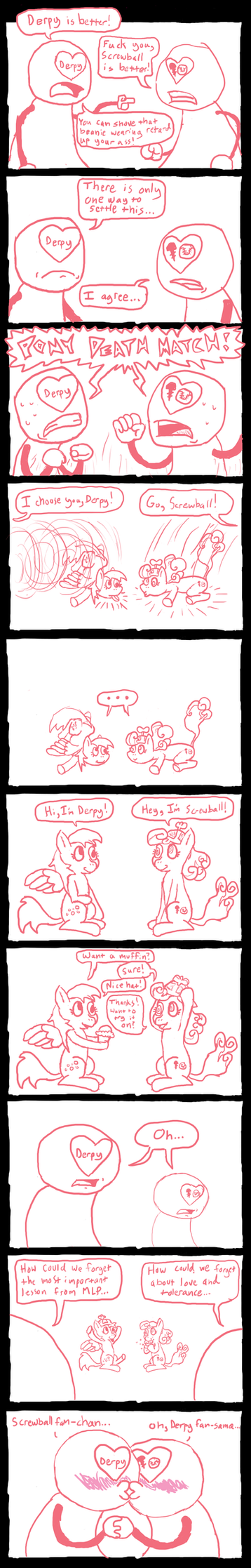 Derpy and Screwball Fans by FicFicPonyFic