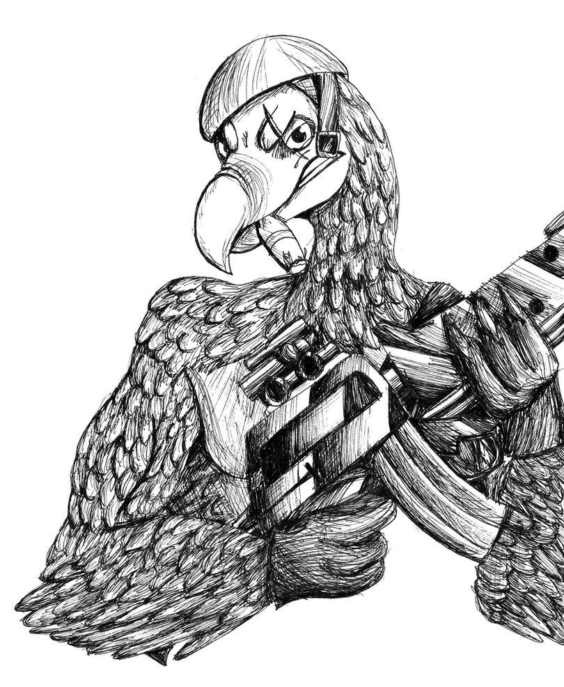 Dodo with a M16 by Binkatong