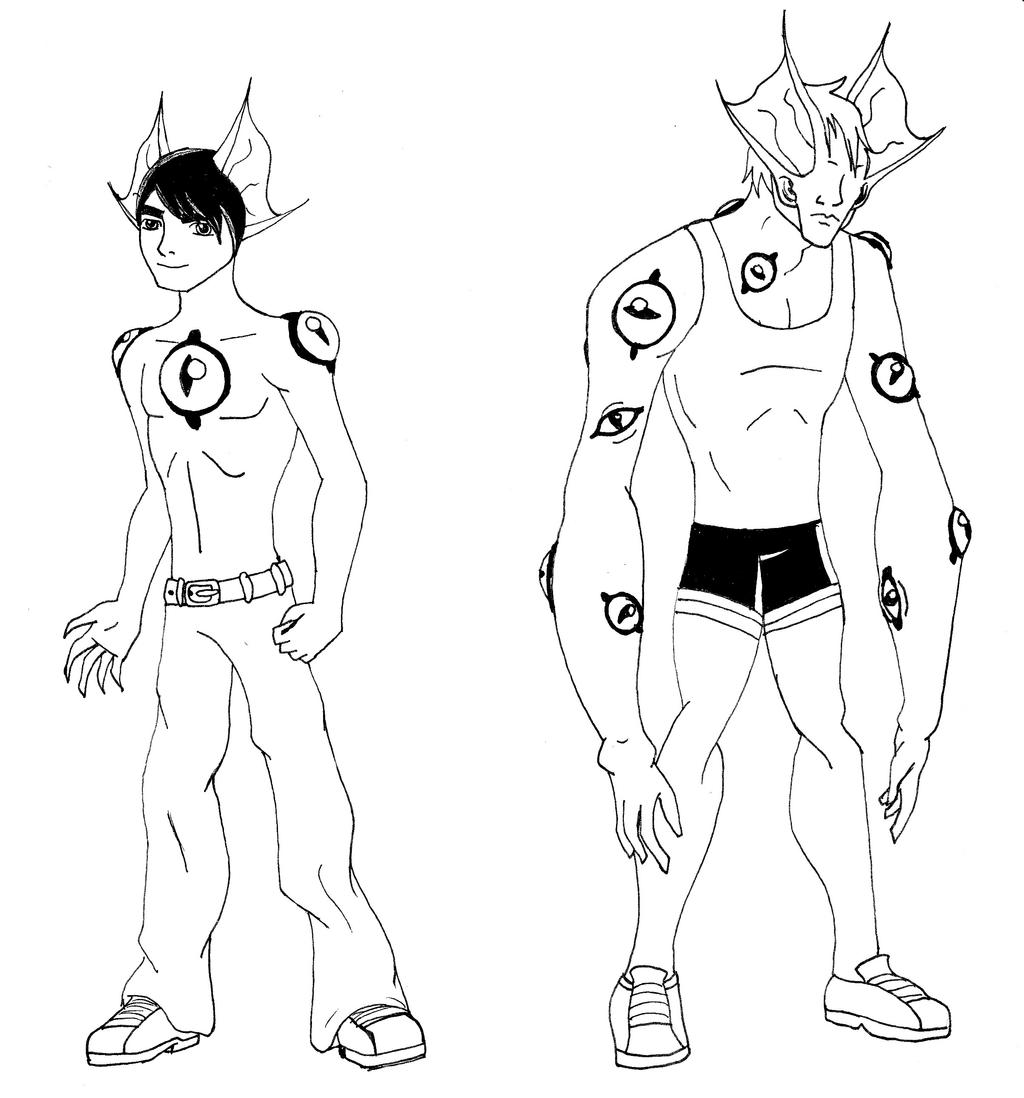 Human-Alien Hybrid Tips 1 by Binkatong
