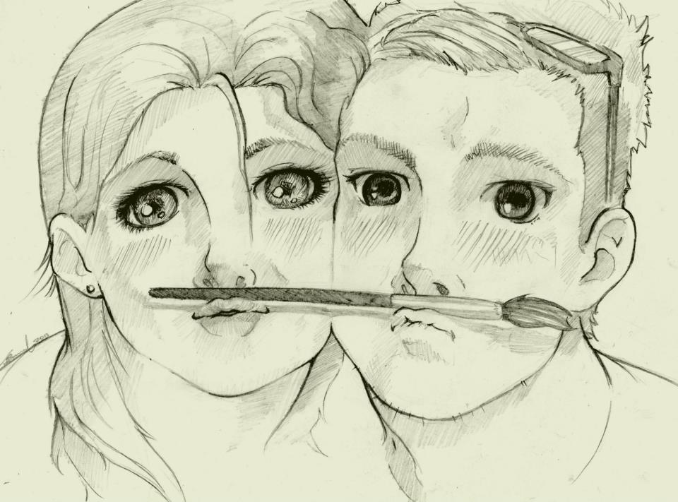 Boy And Girl Sketch Tumblr Boy Girl Drawing Photo by