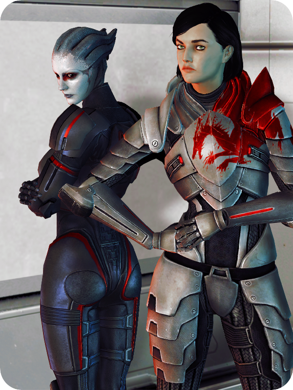 Thalessa and Sandra. by Dama-Rossa