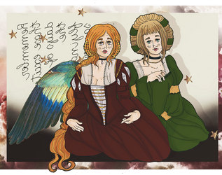 Portrait of two Doves. by pumpkin-juice