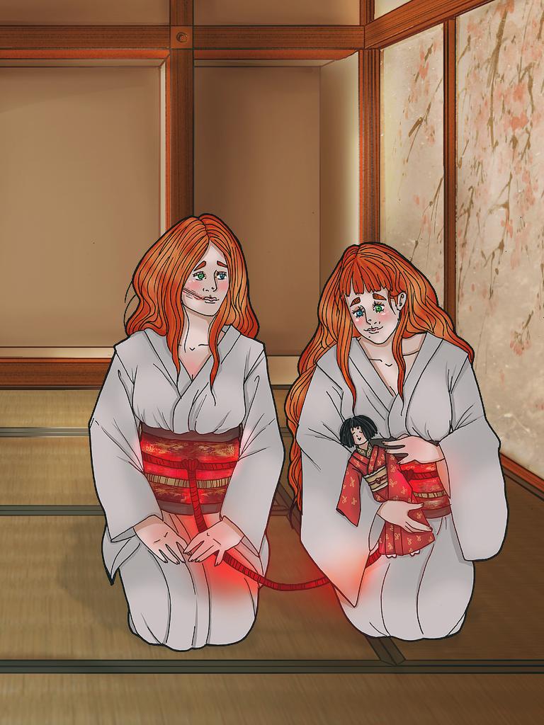 Twin Shrine Maidens. by pumpkin-juice