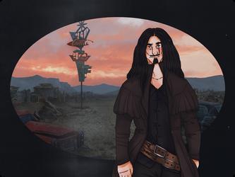 Wasteland Wanderer. by pumpkin-juice