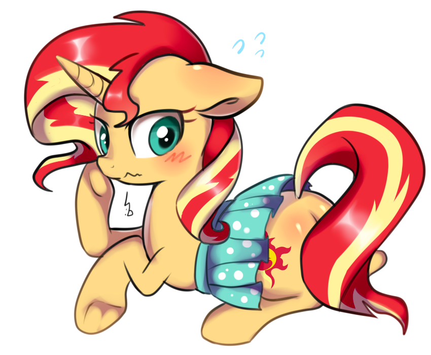 sunset_shimmer_is_wearing_a_dress_by_had