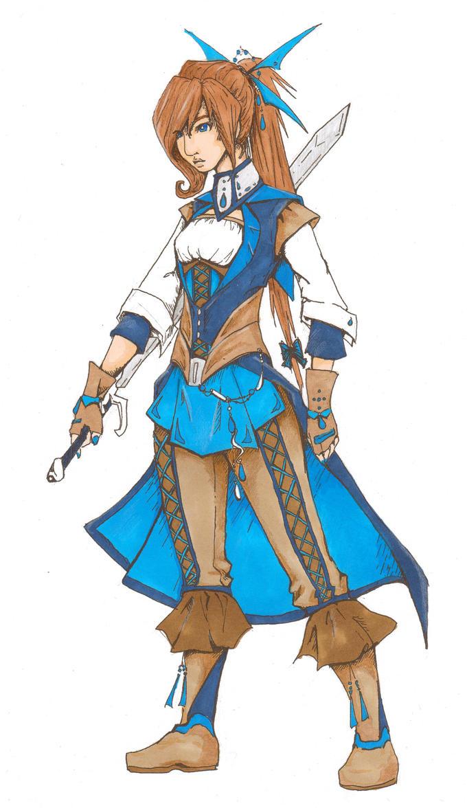 Warrior Maiden by bluesilverlily