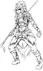 Wolf Soldier Lineart