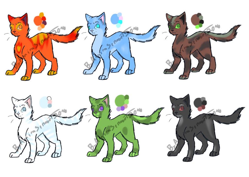 Elemental cat adoptables 5/6 OPEN by Tickley101 on DeviantArt