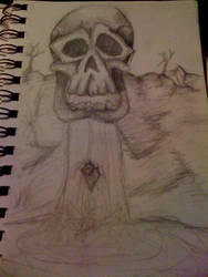 skull fall by wolfiscrazed