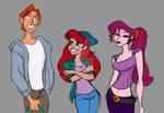 Disney red head trio