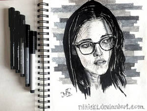Kristen Stewart [ink portrait]