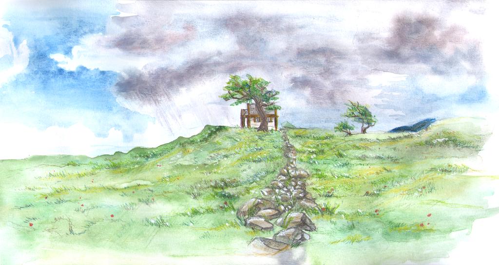 Cottage From Afar by CyanilurusJubatus