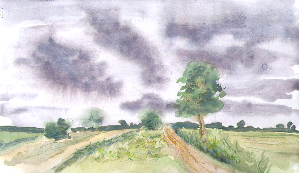 Road and Clouds by CyanilurusJubatus